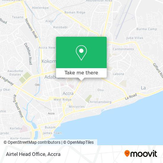 Airtel Head Office map