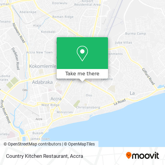 Country Kitchen Restaurant map
