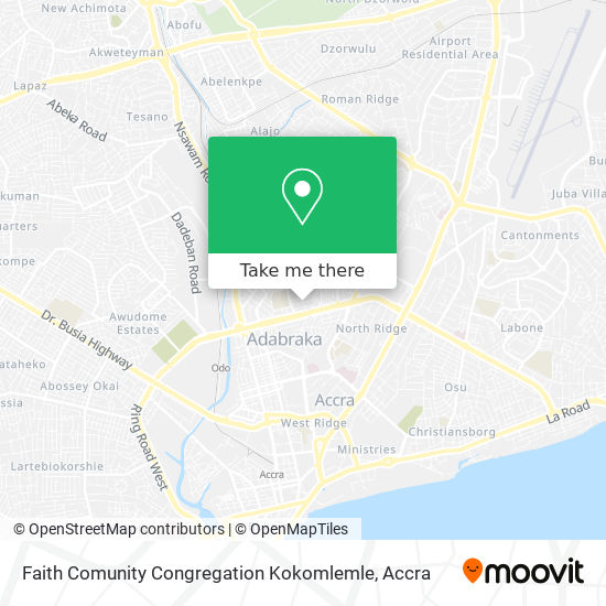 Faith Comunity Congregation Kokomlemle map
