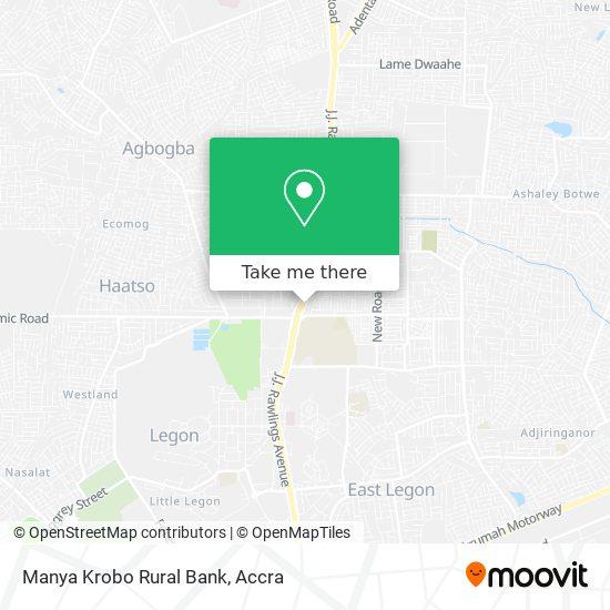 Manya Krobo Rural Bank map