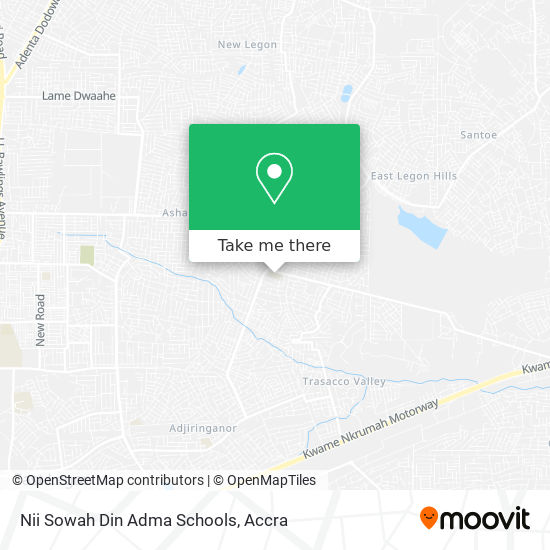 Nii Sowah Din Adma Schools map