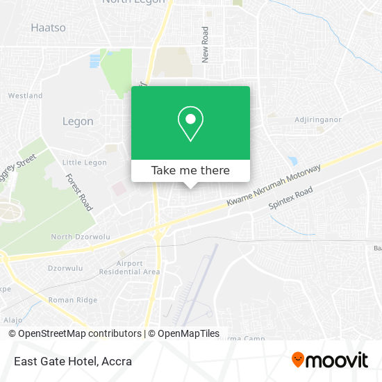 East Gate Hotel map