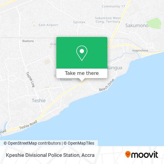 Kpeshie Divisional Police Station map