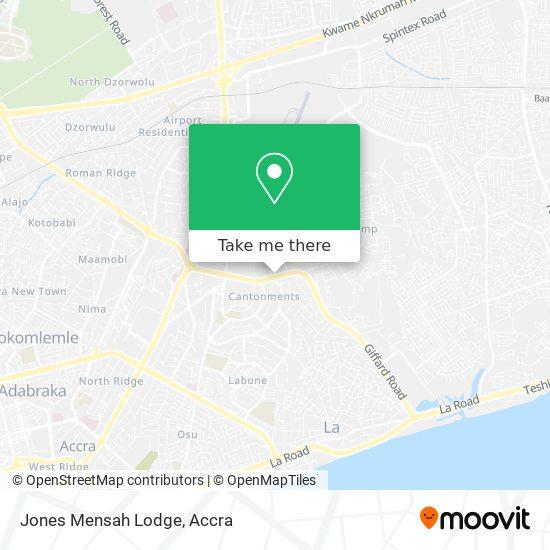 Jones Mensah Lodge map