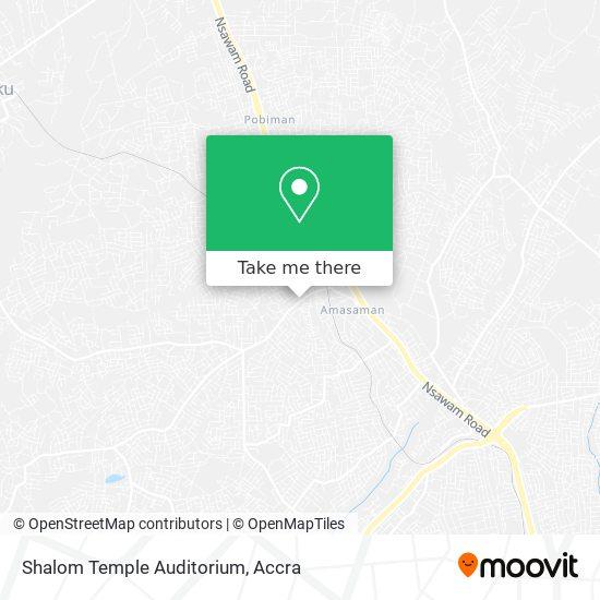 Shalom Temple Auditorium map