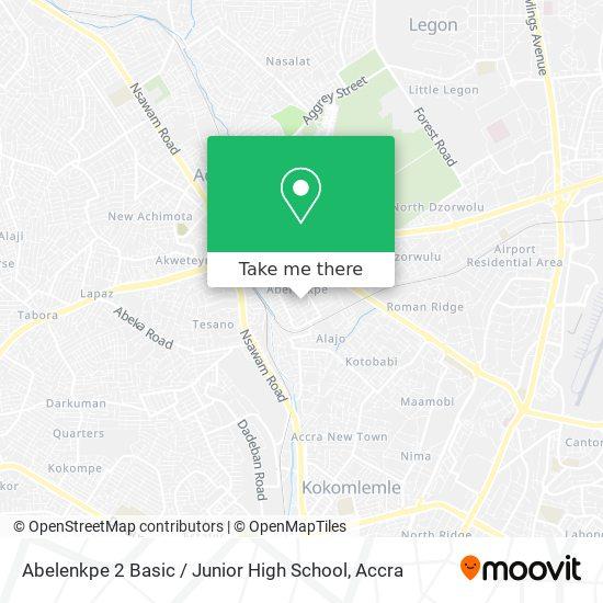 Abelenkpe 2 Basic / Junior High School map