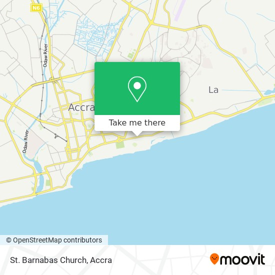 St. Barnabas Church map