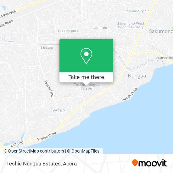Teshie Nungua Estates map
