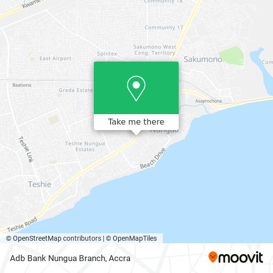 Adb Bank Nungua Branch map