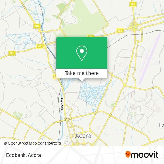 Ecobank map