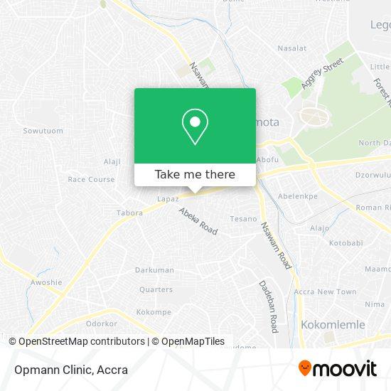 Opmann Clinic map
