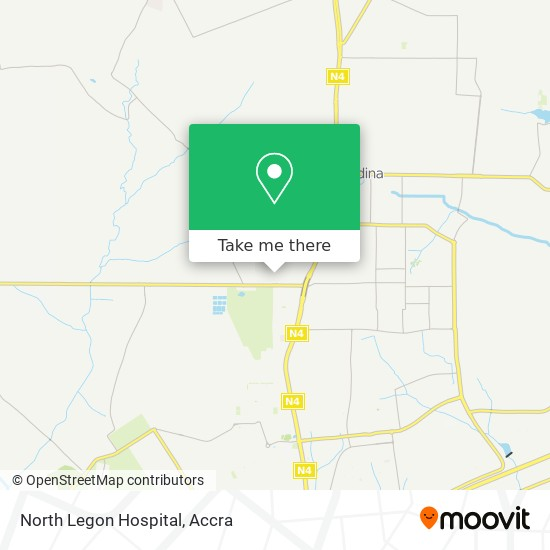 North Legon Hospital map