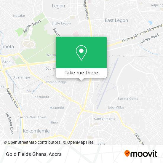 Gold Fields Ghana map