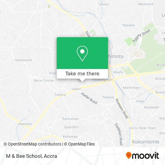 M & Bee School map