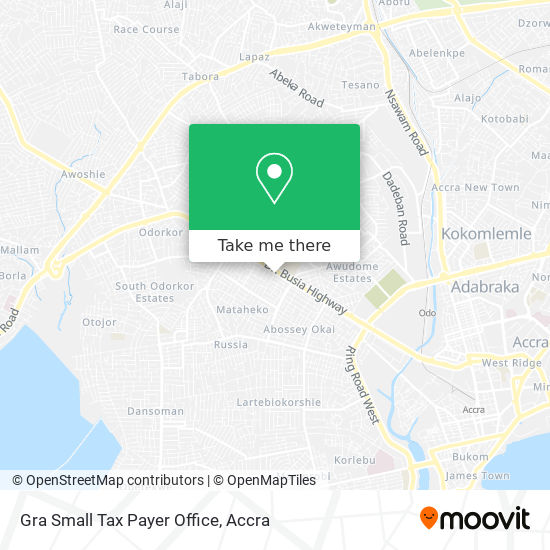 Gra Small Tax Payer Office map