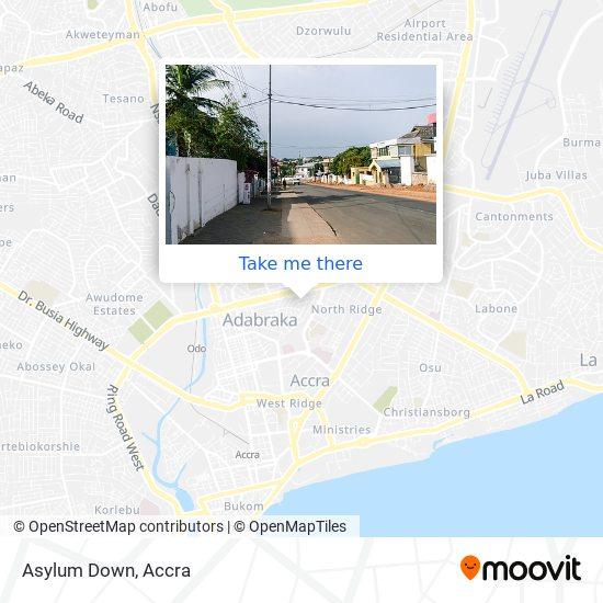 Asylum Down map