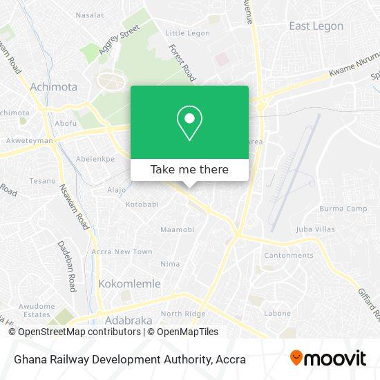 Ghana Railway Development Authority map