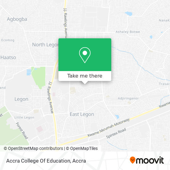 Accra College Of Education map