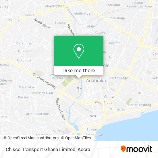 Chisco Transport Ghana Limited map