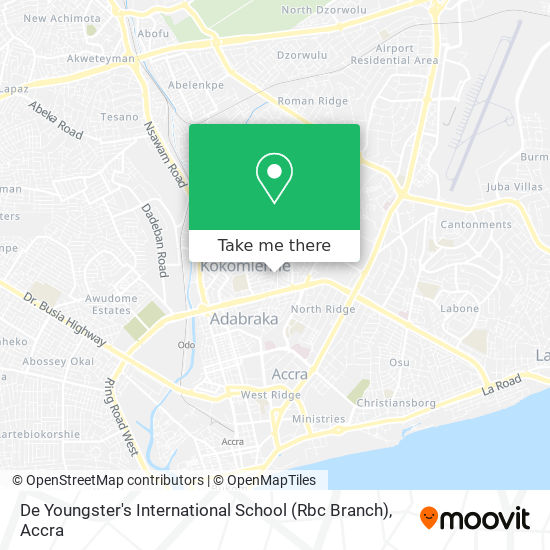 De Youngster's Int. School (Rbc Branch) map