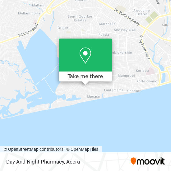 Day And Night Pharmacy map
