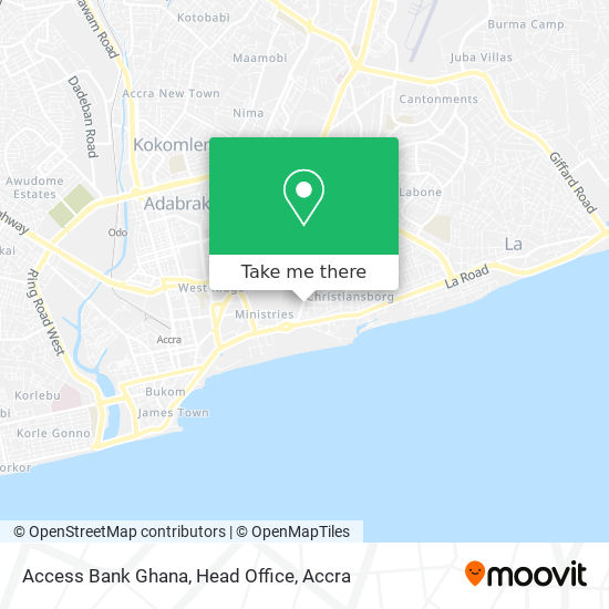 Access Bank Ghana, Head Office map