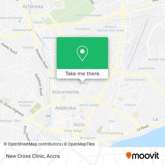 New Cross Clinic map