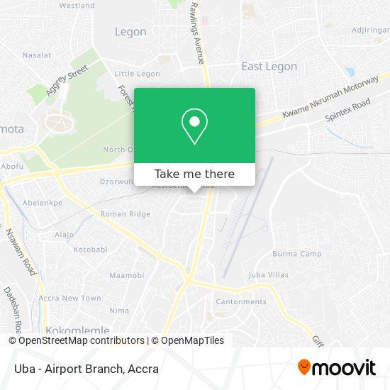 Uba - Airport Branch map