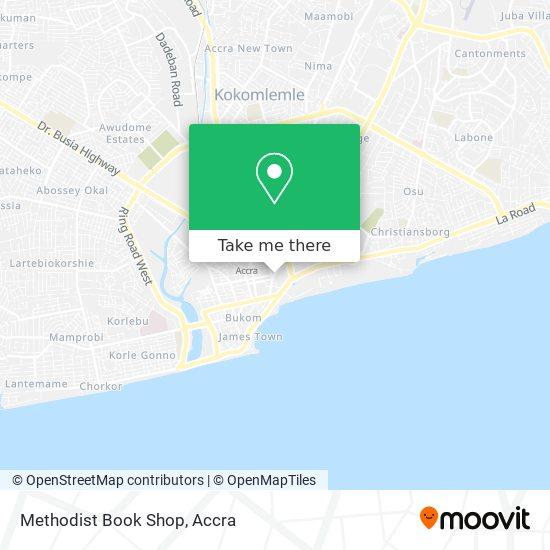 Methodist Book Shop map