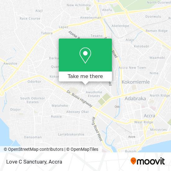 Love C Sanctuary map