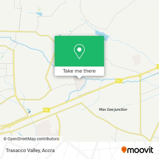 Trasacco Valley map