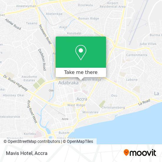 Mavis Hotel map