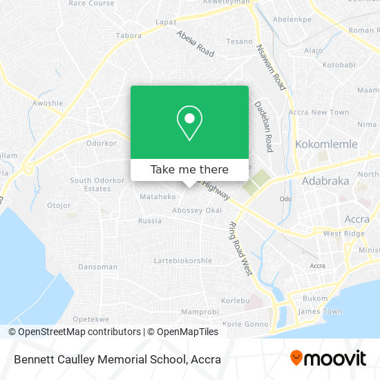 Bennett Caulley Memorial School map