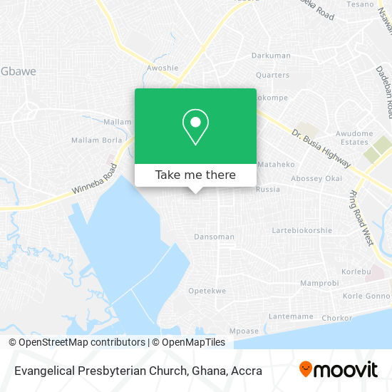 Evangelical Presbyterian Church, Ghana map