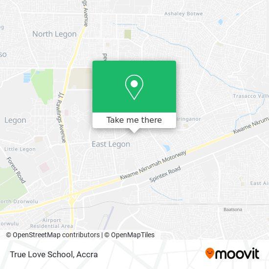True Love School map