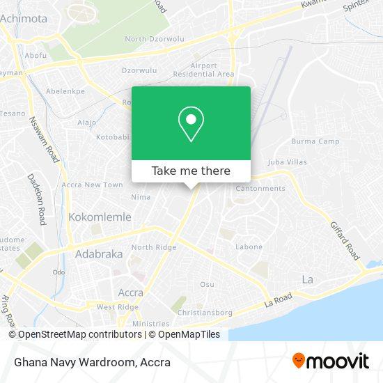 Ghana Navy Wardroom map