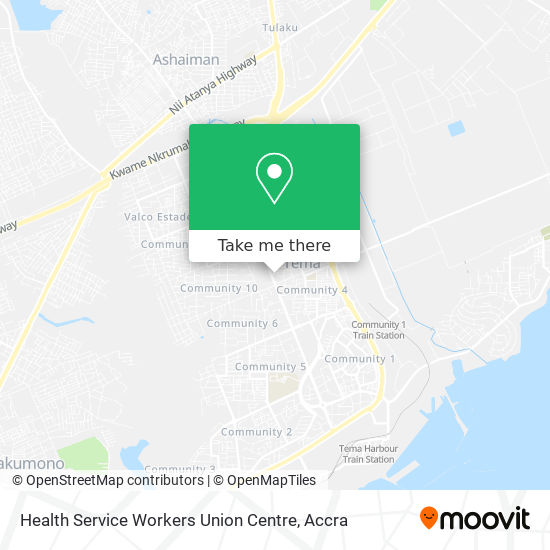 Health Service Workers Union Centre map