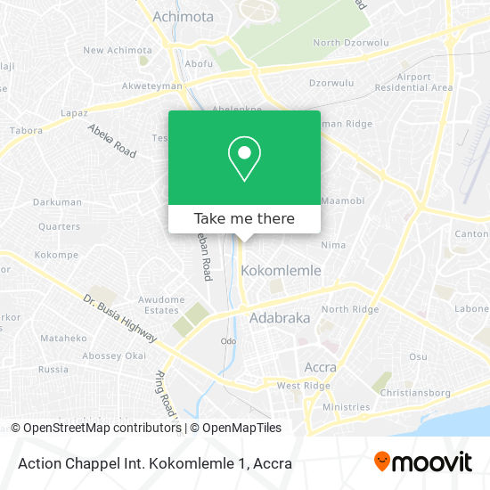 Action Chappel Int. Kokomlemle 1 map