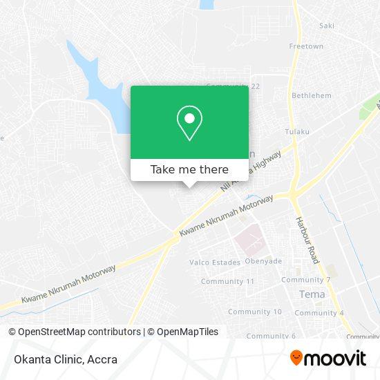 Okanta Clinic map