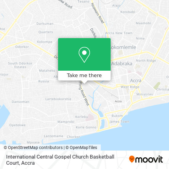 International Central Gospel Church Basketball Court map