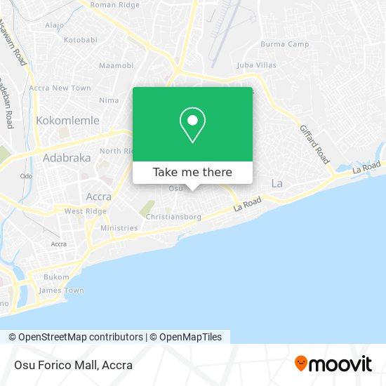 Osu Forico Mall map