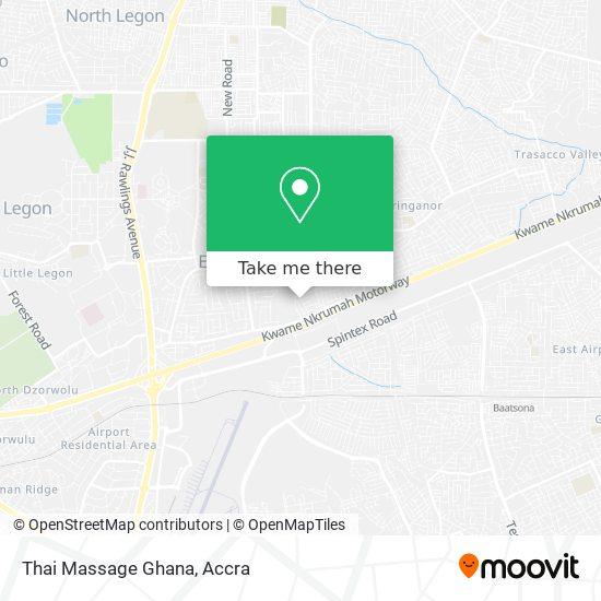 Thai Massage Ghana map