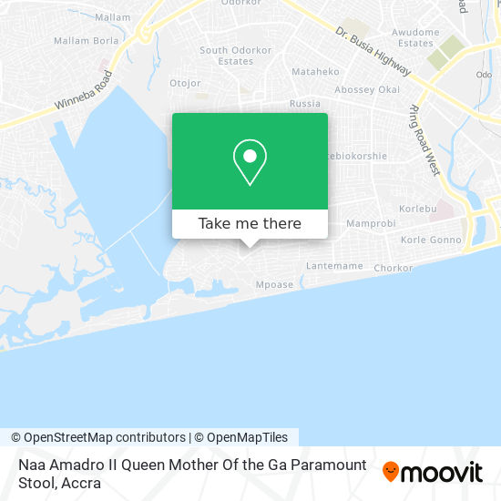 Naa Amadro II Queen Mother Of The Ga Paramount Stool map