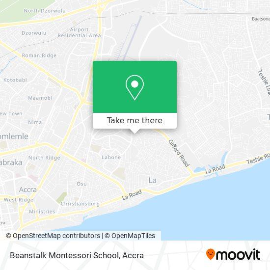 Beanstalk Montessori School map