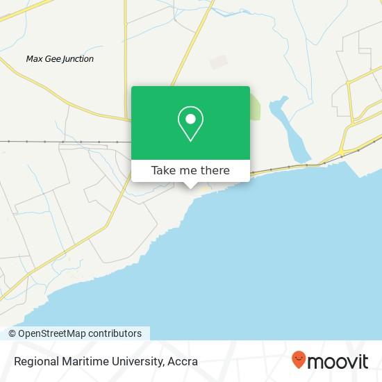 Regional Maritime University map