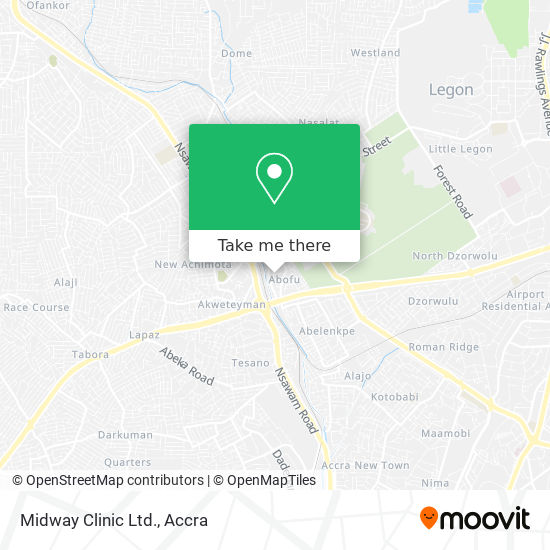 Midway Clinic Ltd. map