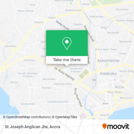 St Joseph Anglican Jhs map