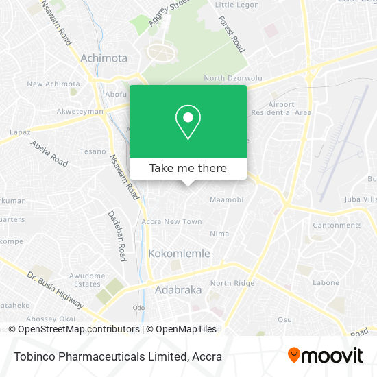 Tobinco Pharmaceuticals Limited map