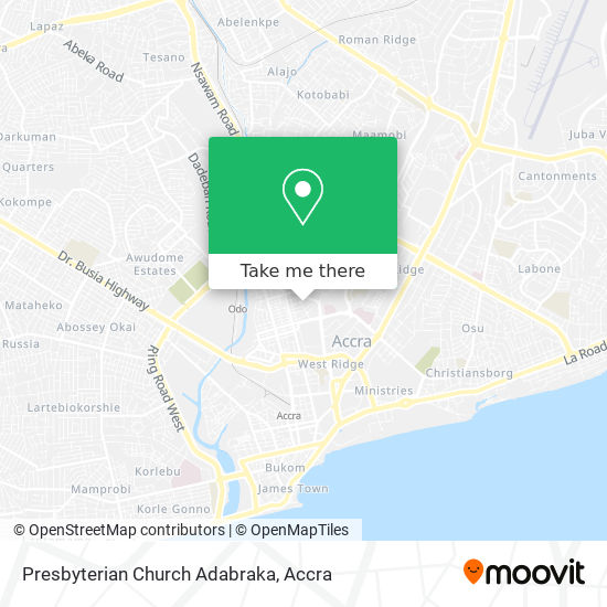 Presbyterian Church Adabraka map