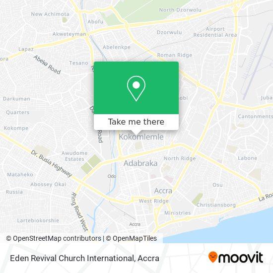 Eden Revival Church International map